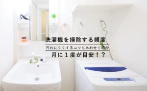 洗濯機の掃除をする頻度│掃除方法や業者に依頼したときの違いなど