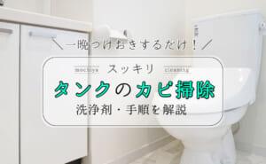 """トイレタンクの黒カビ&臭いを""""一晩で""""落とす方法!洗浄剤もご紹介"""