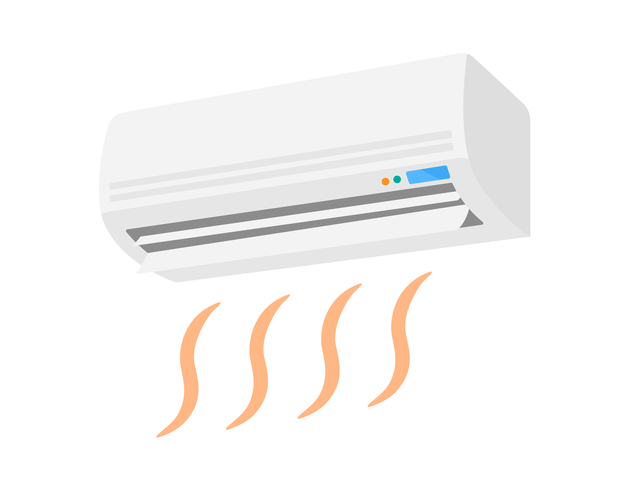 エアコンの暖房モードのイメージ
