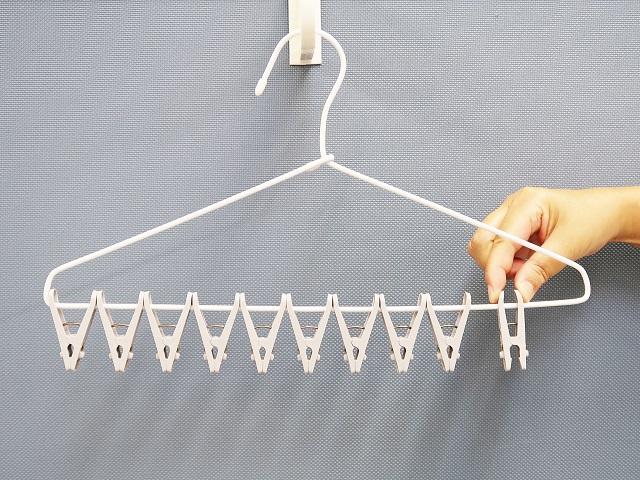 洗濯物が一度に外せるピンチハンガー 10ピンチ付の商品画像