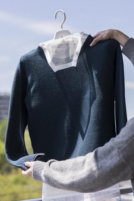 洗濯達人で洗い上げたセーター